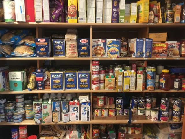full pantry after postal workers' drive
